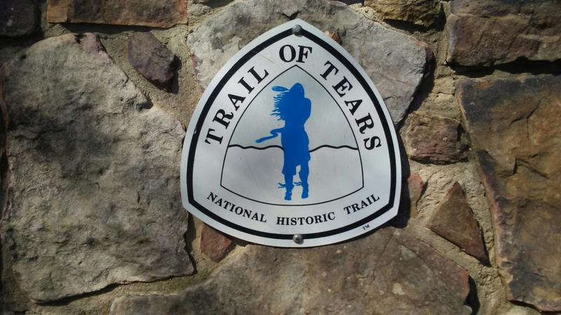 Trail of Tears symbol at Fort Smith, Arkansas