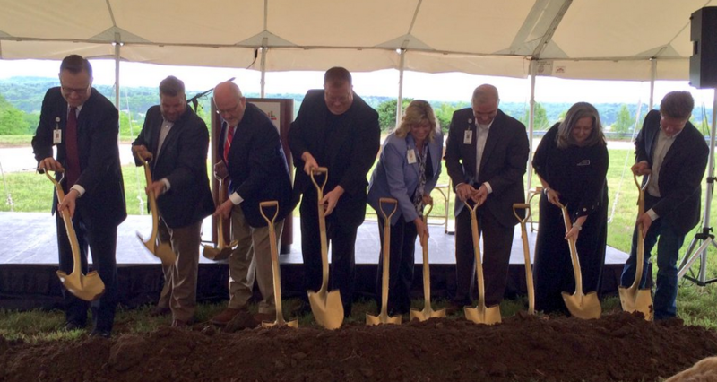 Officials with Mercy break ground on the new clinic property at Highways 65 and 248.
