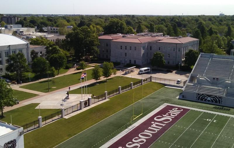 Overlooking Plaster Stadium and west end of Carrington Hall at MSU