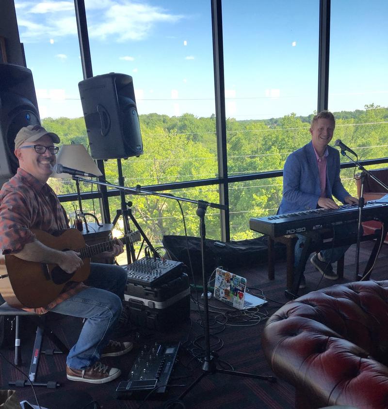 Jody Bilyeu and Brett Johnston of Wild Bob's Musical Book Club playing Studio Live Social Hour at Barley Wheat and Rye.
