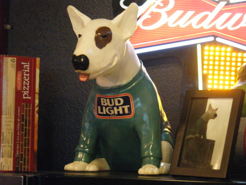 Spudz Mackenzie-one of the few remaining artifacts  left untouched from origninal bar