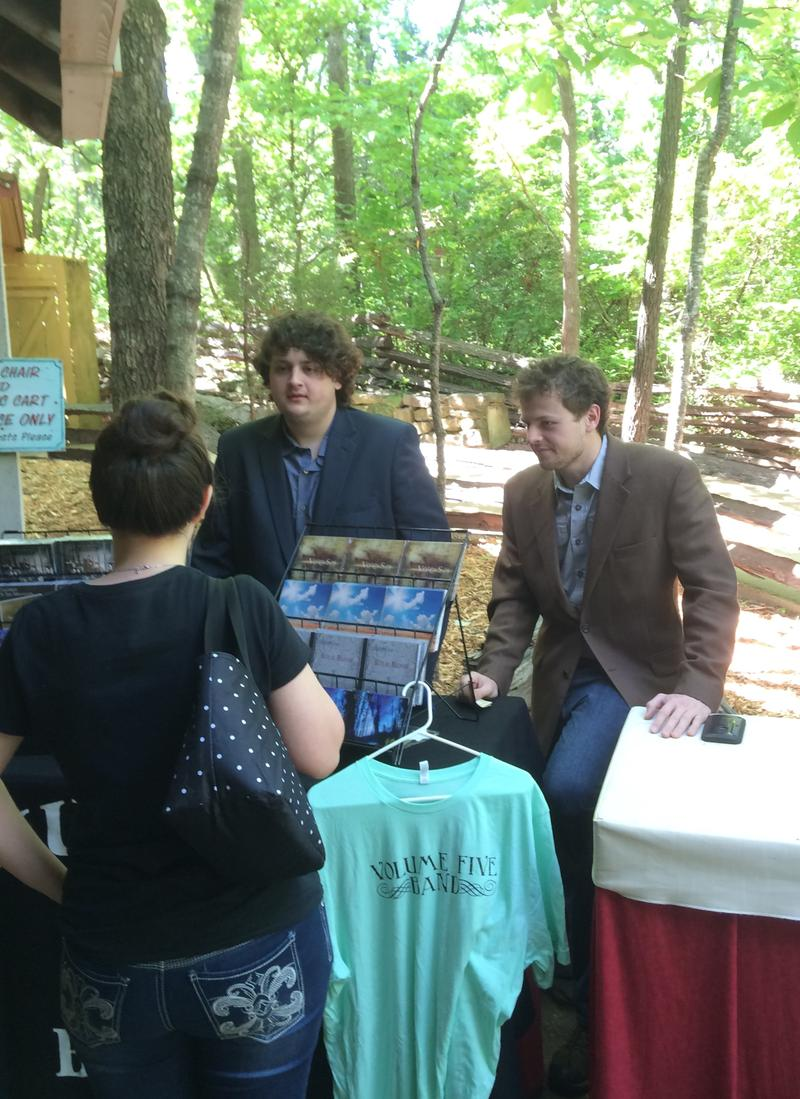 Harry & Jed Clark at the Volume 5 Merch Table Following a Performance at Silver Dollar City