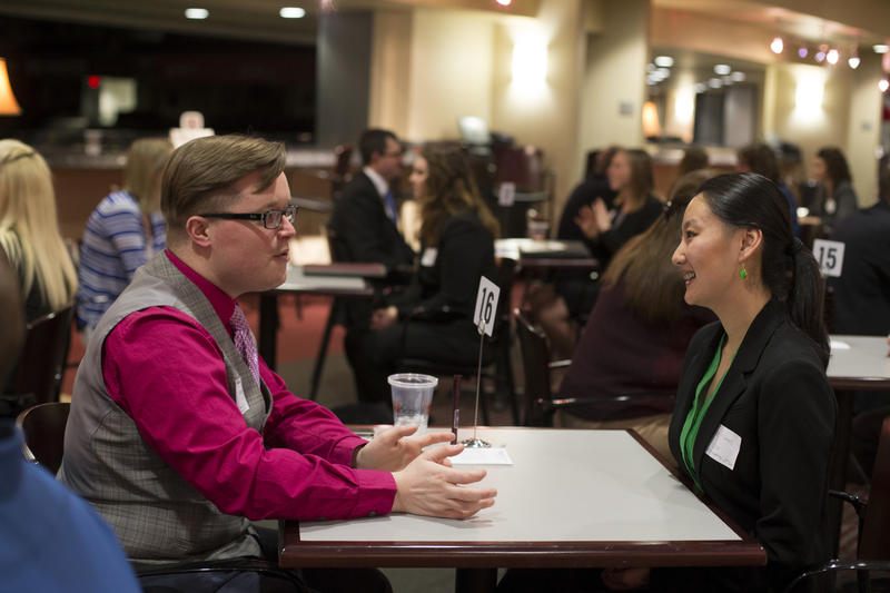 Speed networking event for MSU alum
