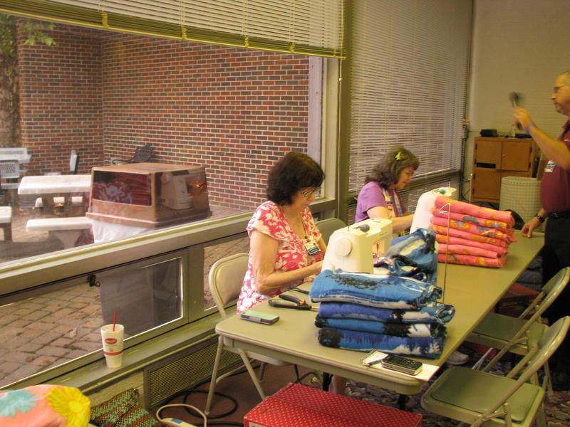 Volunteers at Kids' Sewing Day