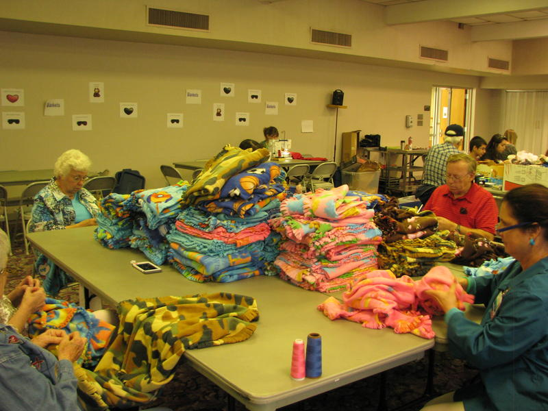 Blankets at Kids' Sewing Day