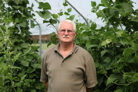 Wenig hopes to run his farm with as little pesticides as possible.