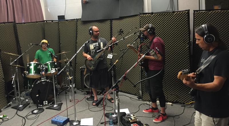 Brandon McKee, Chris Vanderpool, Danny Maple and Mike Gomez of Vultures of Chaos County on Studio Live