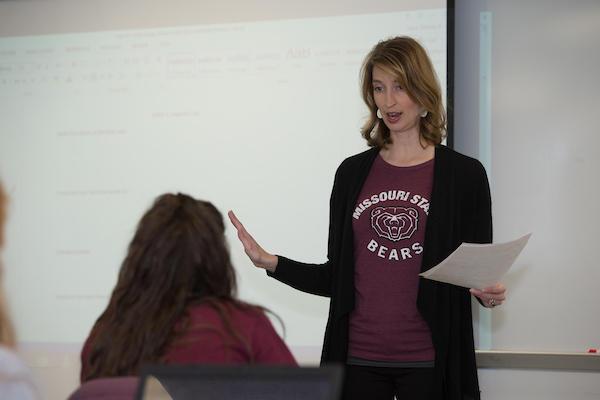 Allen in her classroom