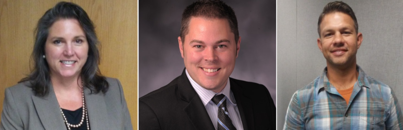 From Left; Angela Pryor (D), Incumbent Rep. Elijah Haahr (R), and Daniel Romine (L)