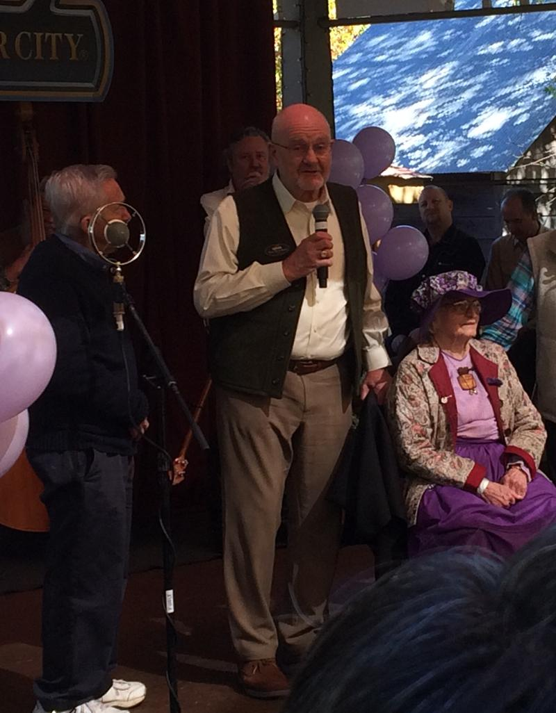 Silver Dollar City Co-Founders Jack and Pete Herschend Wishing Violet Hensley a Happy 100th Birthday