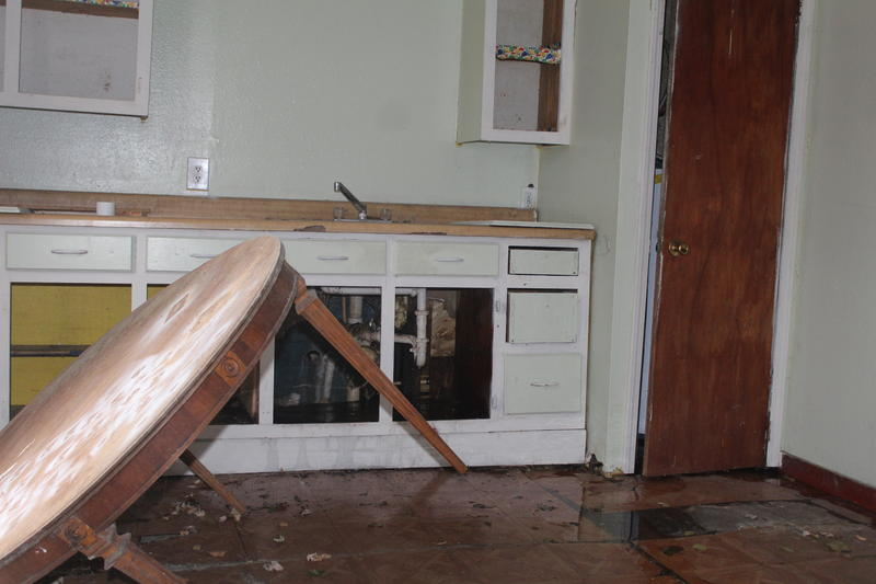 Kitchen with Leaking Pipes in W. Hamilton House