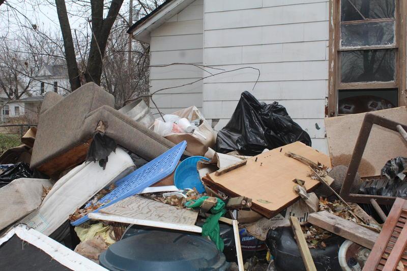 Junk Pile Behind W. Hamilton House
