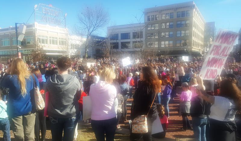 An estimated 2,000 peole attended the Women's March in Springfield