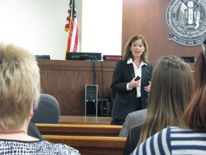 Greene County Associate Circuit Judge Becky Borthwick at Huddle Session
