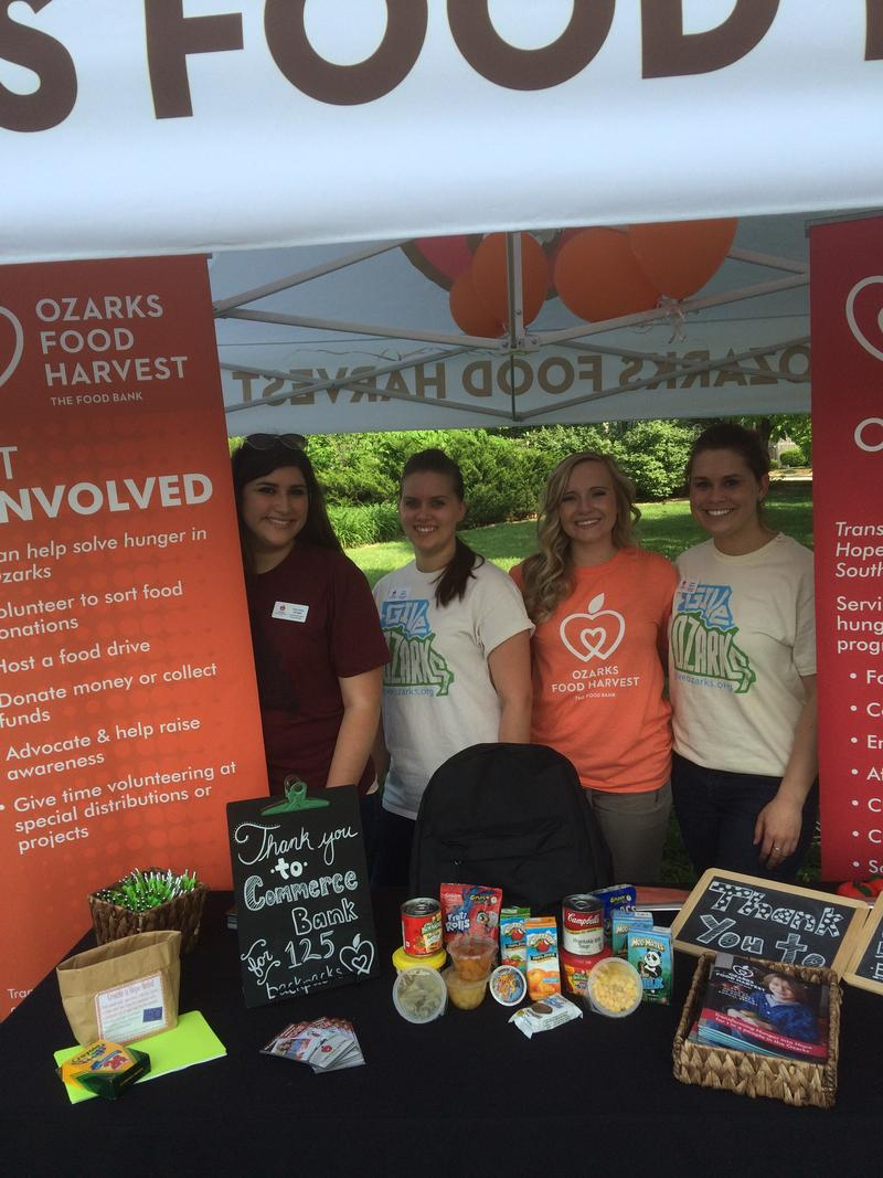 Ozarks Food Harvest Booth, at 2015 GIVE OZARKS Rally