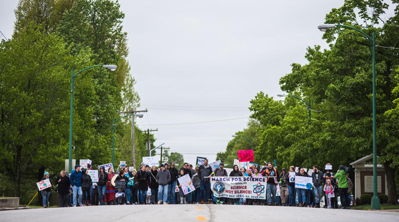 Citizens marched from Jenny Lincoln Park heading to Park Central Square