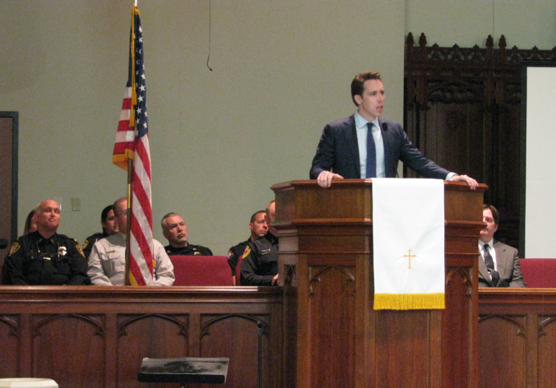 Attorney General Josh Hawley delivered the keynot address Thursday