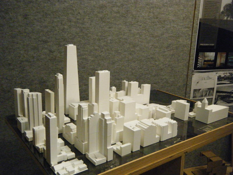 3D printed Chicago skyline-student project
