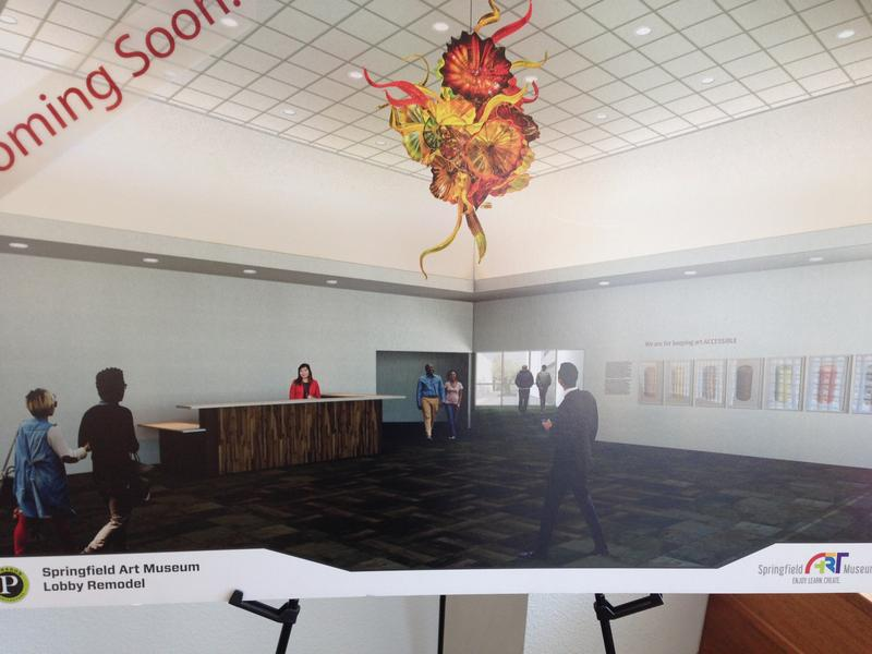 Artist's rendering of the new lobby design for the Art Museum.