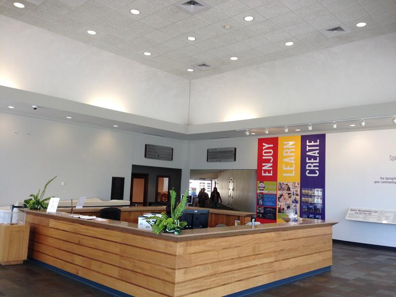 The current Art Museum lobby space.
