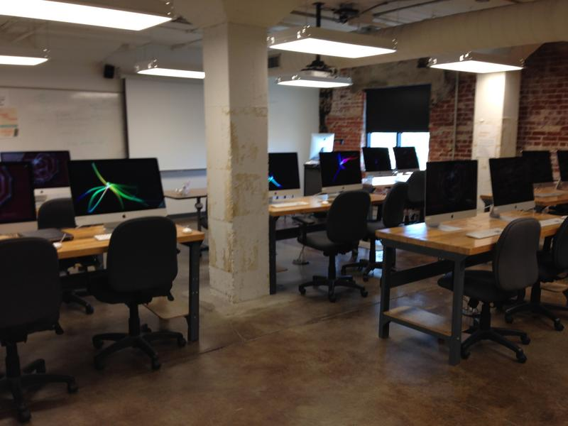 An MSU digital animation studio in Brick City Building 1.