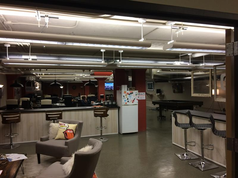 Relax, Network, or play Pool and Ping Pong in the eFactory Co-Worker Room