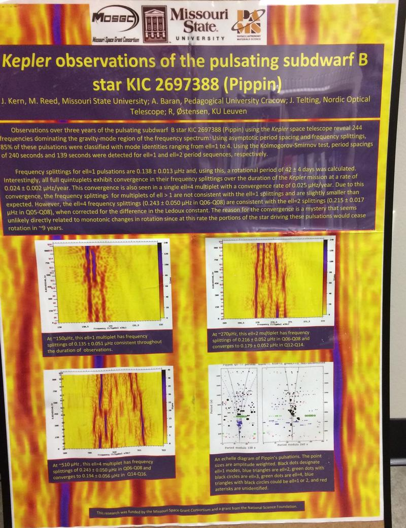 Poster Lists Kepler Discoveries by MSU Students and Professor Mike Reed