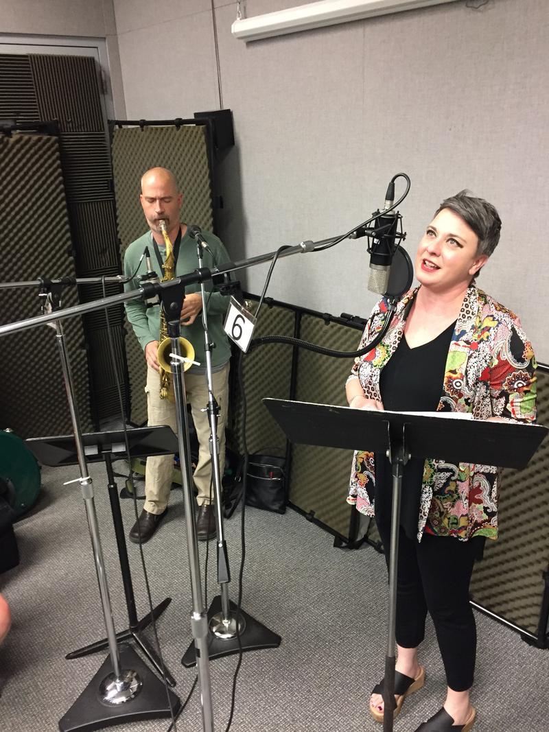 Krisit Merideth with Brandon Mezzelo on Studio Live