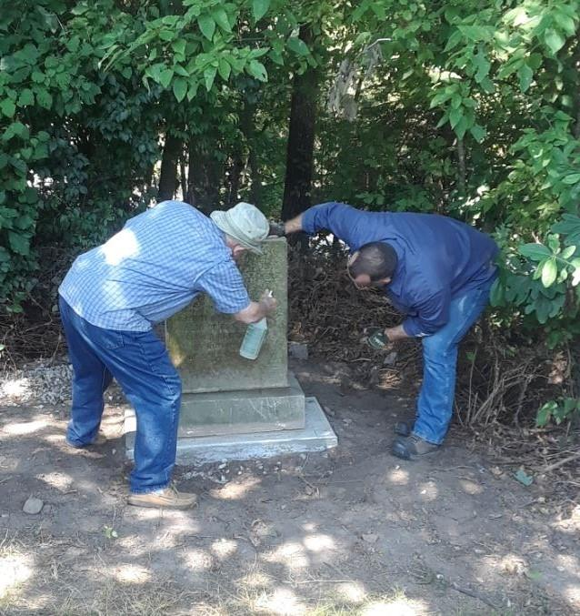 Putting Finishing Touches on the Schoolcraft Monument