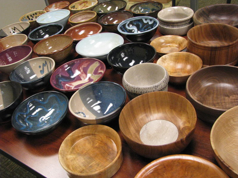 A Selection of Bowls for Empty Bowls 2017