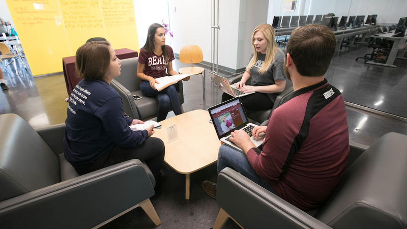 Students collaborate on project