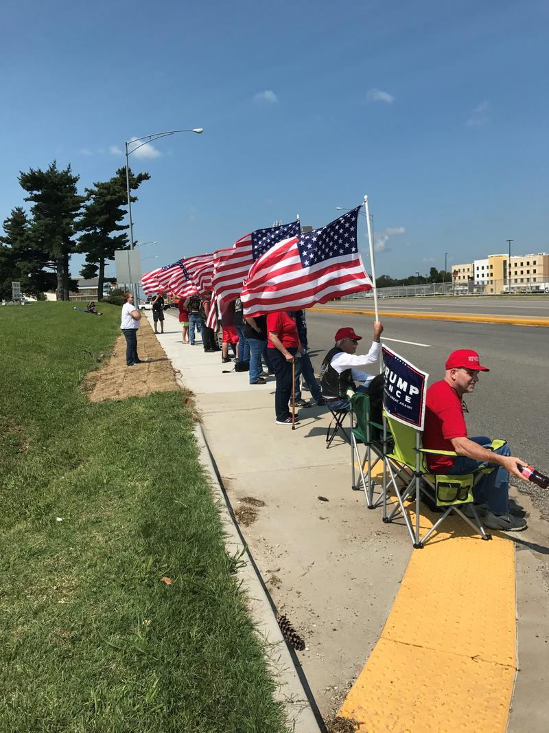 Supporters of President Trump On Kearney