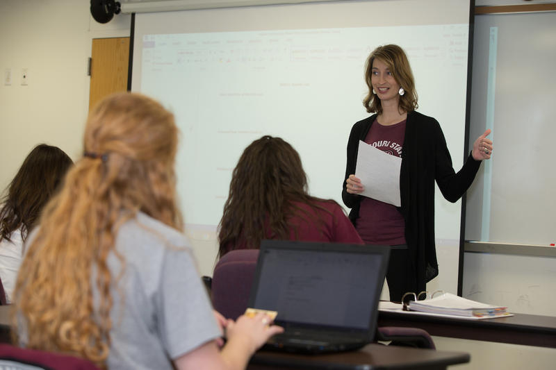 Natalie Allen teaches her dietetics students