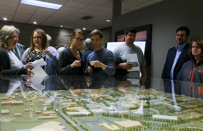 Students, Drury University officials and community members had an opportunity to view a three-dimensional copy of Drury University's master plan. Drury University unveiled it's master plan that will guide the physical evolution of the campus.