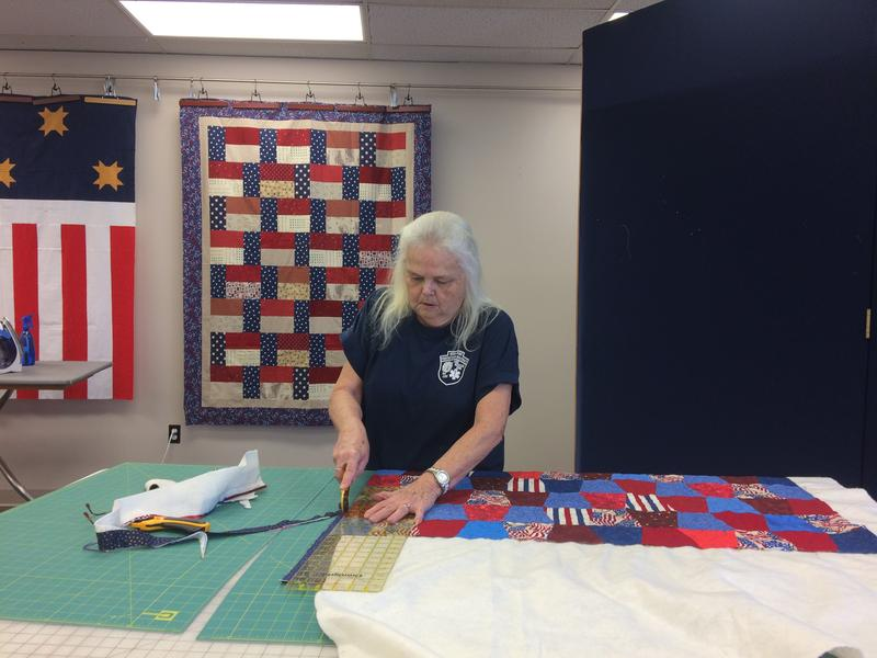 Connie Bradford Chairs The Quilts of Valor Committee For the Ozark Piecemakers Quilt Guild