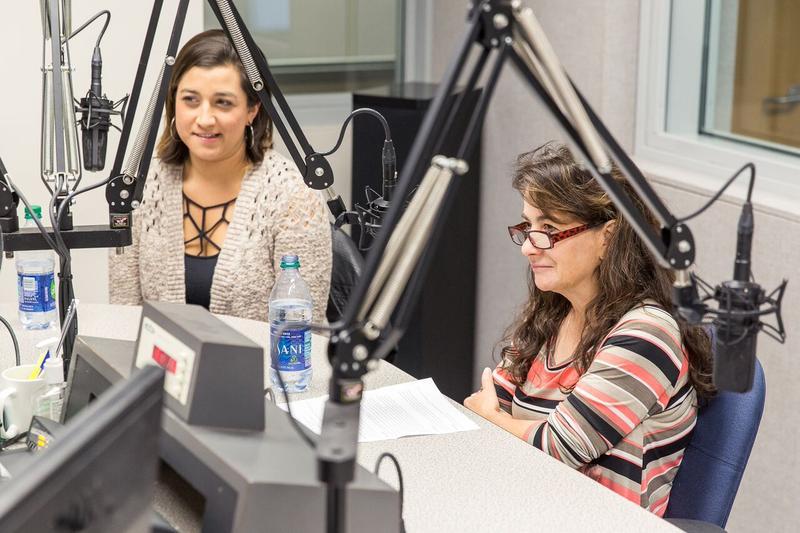 Victoria Ross and Dana Carroll in the KSMU Studio