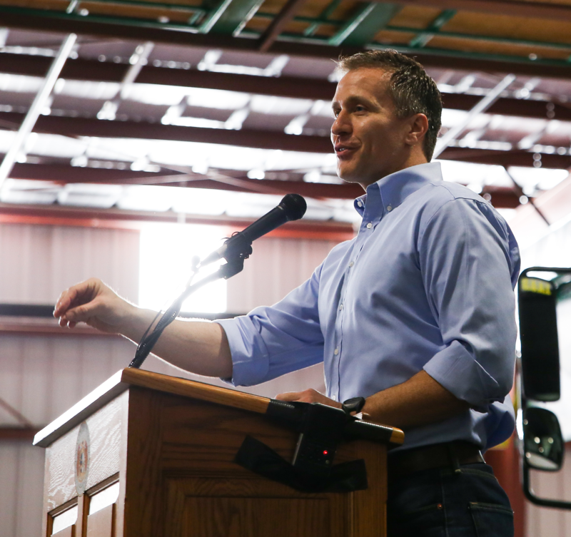 Governor Eric Greitens Discusses his Proposed Tax Cut Plan in Springfield