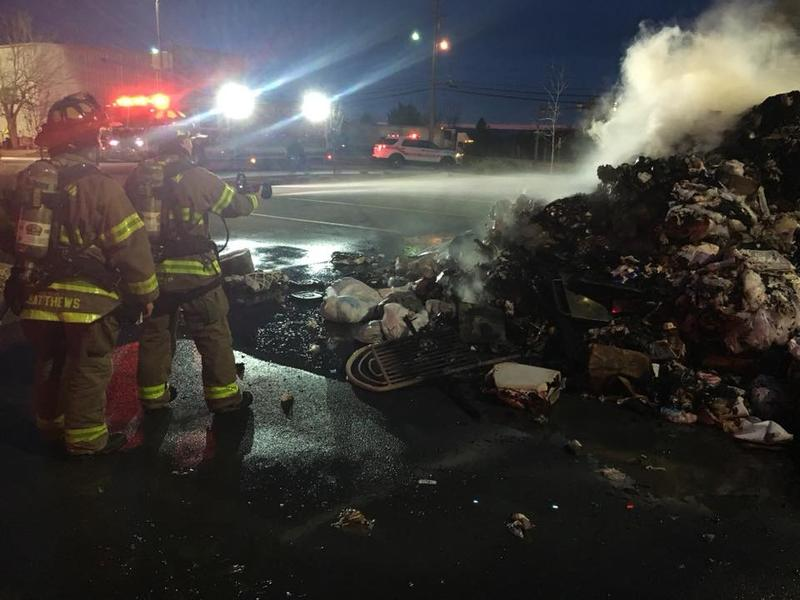 Firefighters Put Out a Trash Fire in Branson
