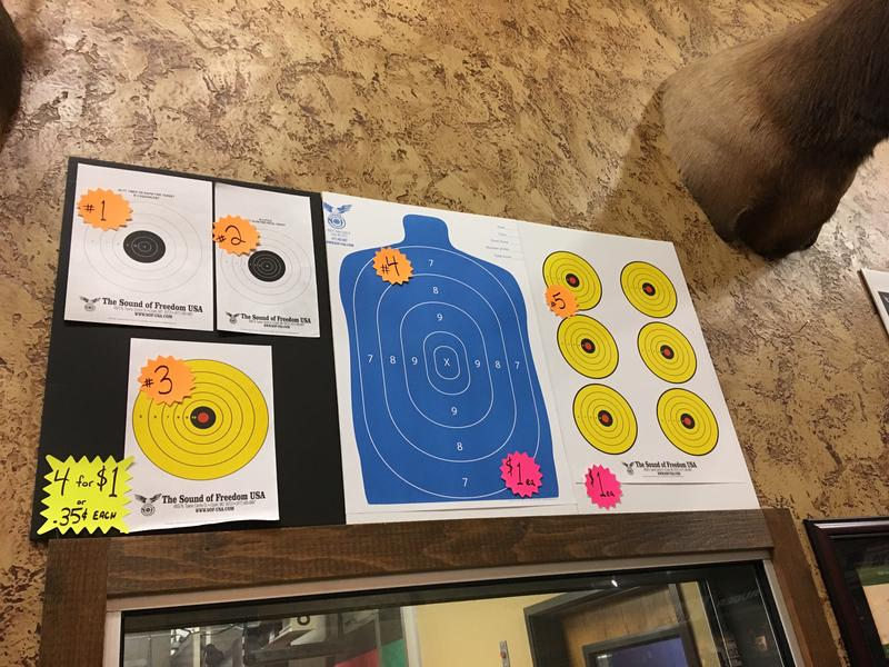 A variety of targets are used for recreational and competitive shooting. Sillouette targets are used when qualifying for a Conceal Carry permit.