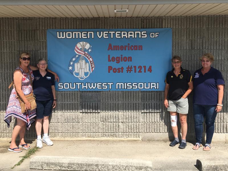 4 Proud Members of Women Veterans of Southwest Missouri American Legion Post 1214