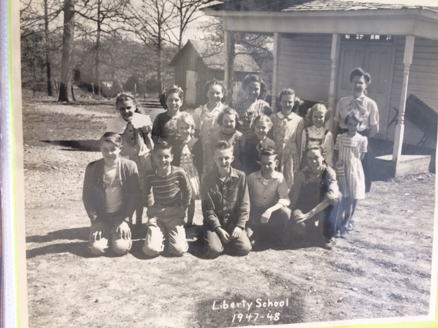 Norma Tolbert's Class Picture, Tolbert is in the second row, first from the left