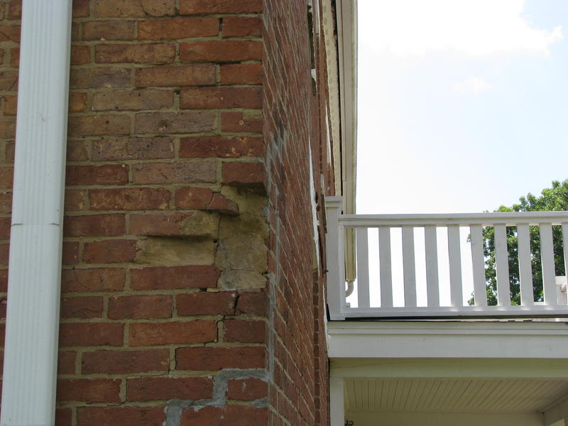 Damage to Bricks Where it's Believed a Cannon Hit