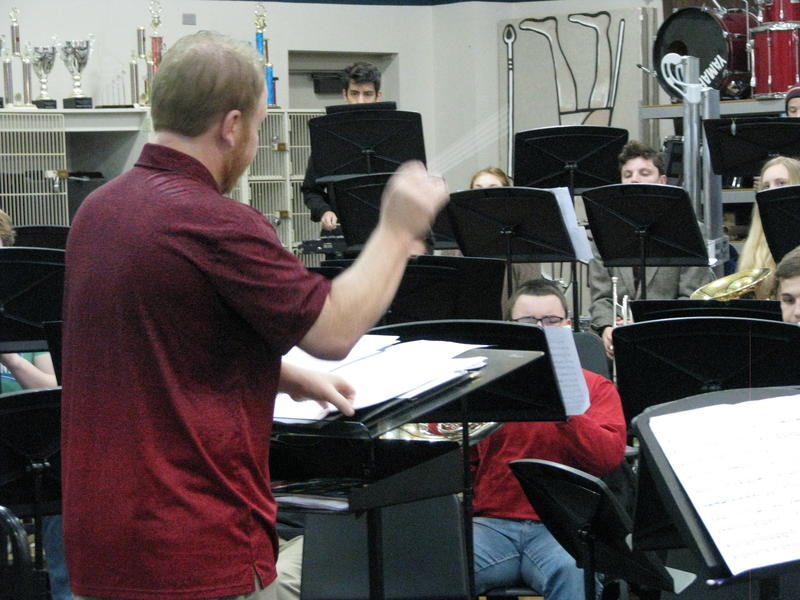 Chris Rohrbaugh Leads the Central High School Wind Ensemble in a Rehearsal