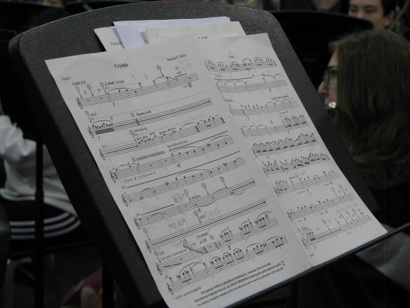 Music on a Music Stand in the Central Band Room