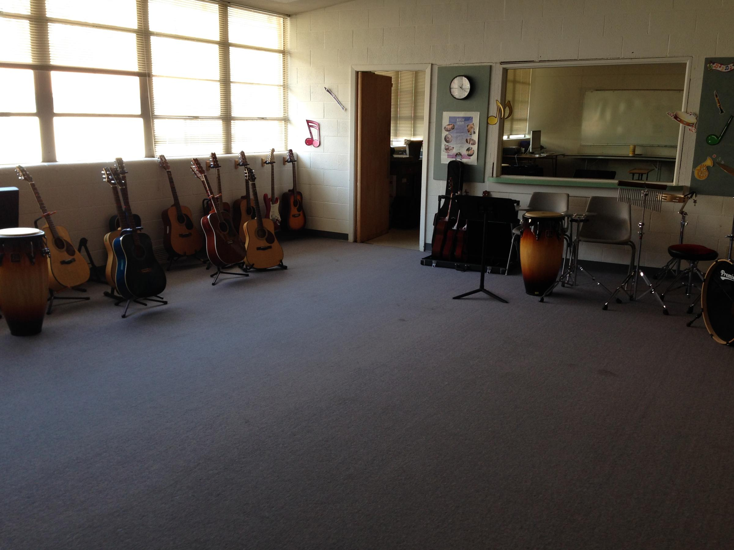 Morgan Robertson Calls This The Rock Band Room At Drury Center For Music Therapy And Wellness