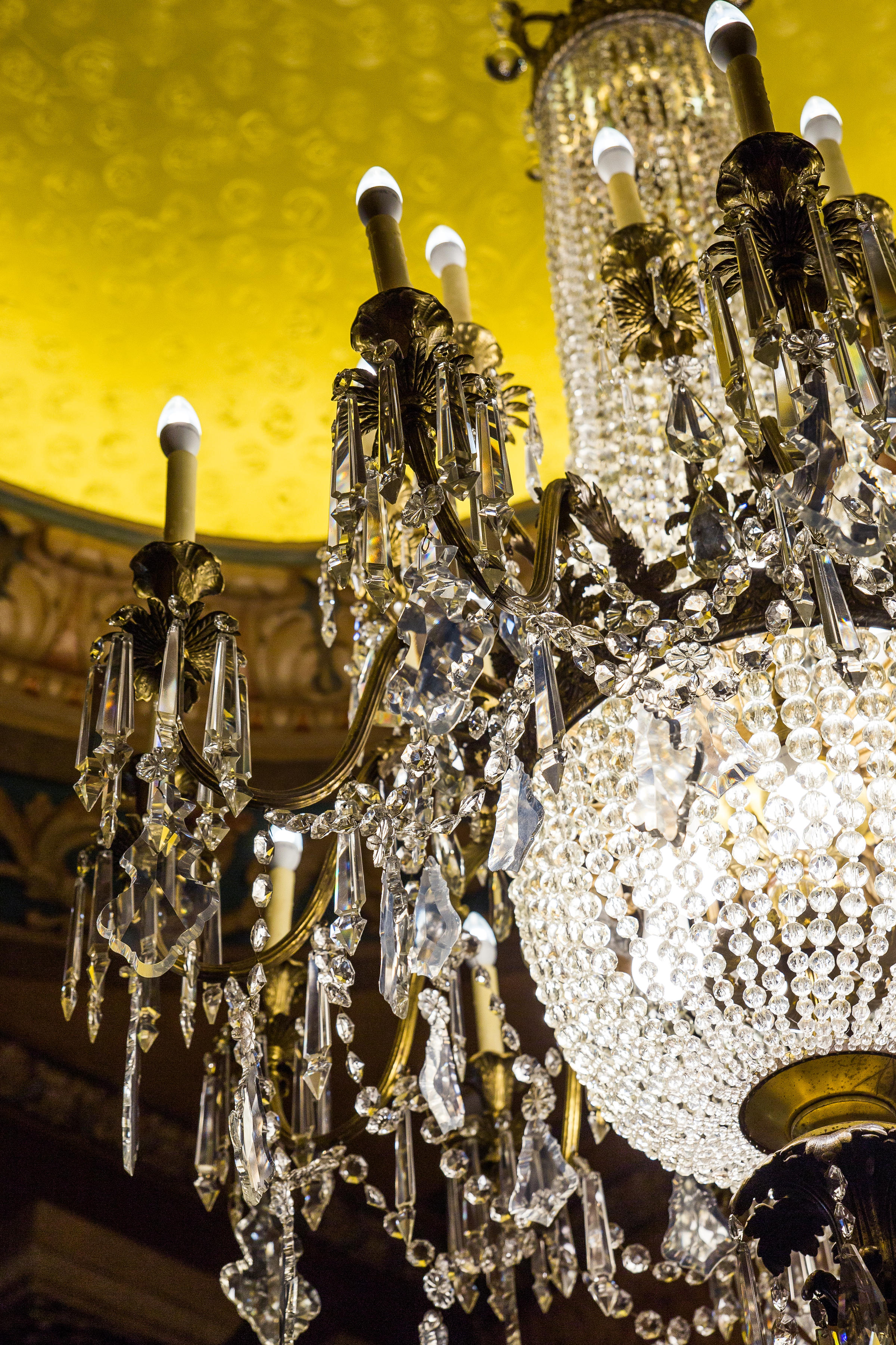 The story behind the gillioz chandelier ksmu radio the chandelier contains 70 pounds of handcut cystal and took over nine hours to install at the gillioz aloadofball Choice Image