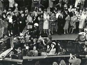 The motorcade, November 22, 1963.