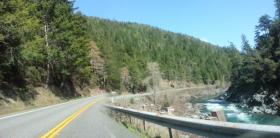 U.S. Highway 199 on the Smith River in Del Norte County