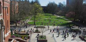University of Oregon campus in Eugene.