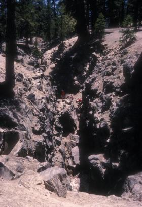 Earthquake fault in California's Inyo National Forest.